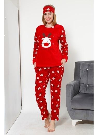 Akbeniz Welsoft Kadın Pijama Takım Kırmızı